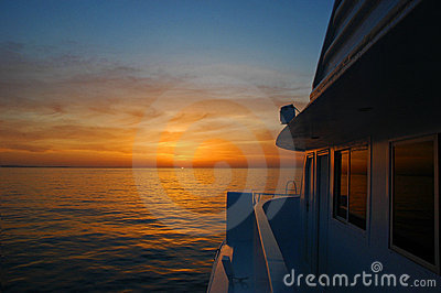 Sunrise on the boat