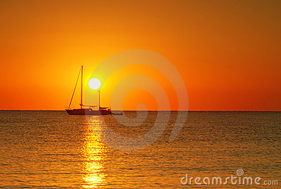 Sunrise and boat