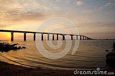 Sunrise at bridge