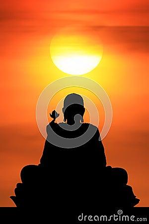 Sunrise and Buddha