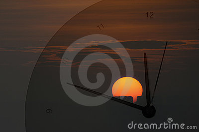 Sunrise and Clock