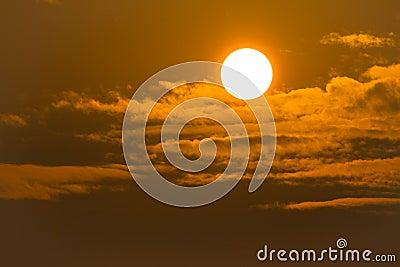 Sunrise on sky