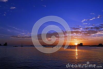 Sunrise in the corniche