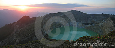 Sunrise on the crater lake