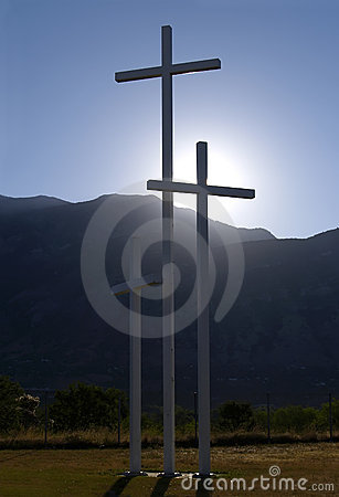 Sunrise crosses