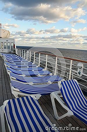 Sunrise on cruise ship deck