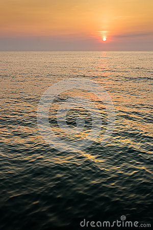 Sunrise on Dark Sea