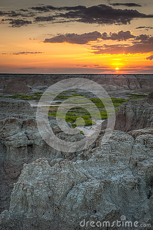 Sunrise on Door Trail in Badlands National Park
