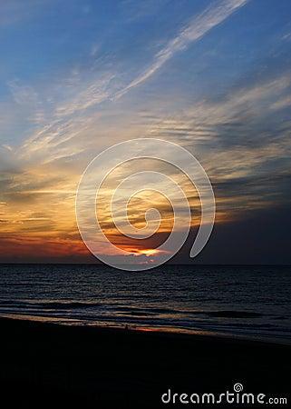 Sunrise at Emerald Isle beach