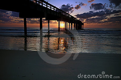Sunrise at Fishing Pier