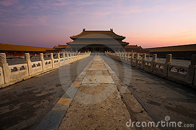 Sunrise Forbidden City Palace Heavenly Purity