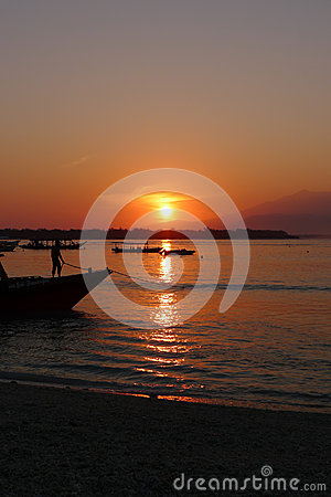 Sunrise at Gili Trawangan