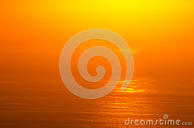 Sunrise glow of ocean