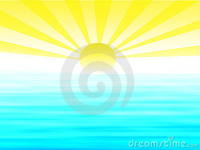 Sunrise Illustration Stock Photography - Image: 15138872