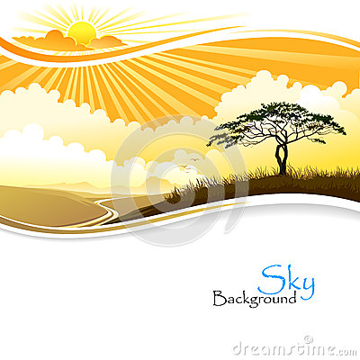 Free Sunrise In African Desert Stock Photo - 29626750