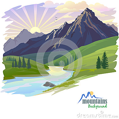 Free Sunrise In High Mountain Stock Image - 28033061
