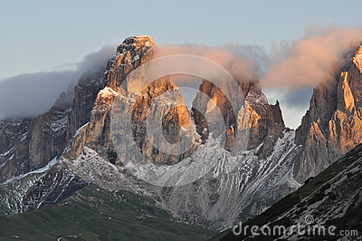 Sunrise in Italian Dolomites