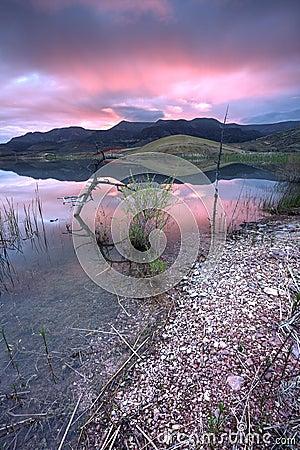 Sunrise by the lake.