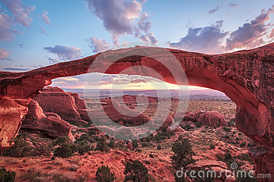 Sunrise at Landscape Arch, Arches National Park
