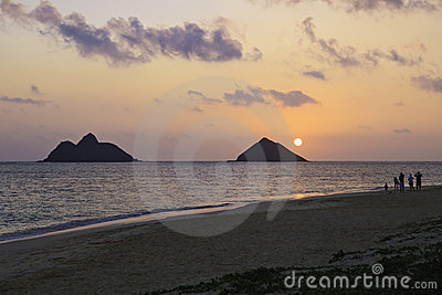 Sunrise at lanikai beach