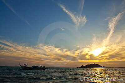 Sunrise at Lipe island, south of Thailand