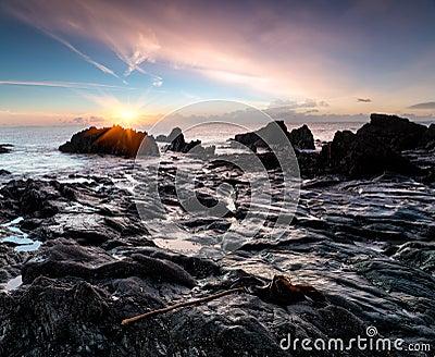 Sunrise at Looe Beach