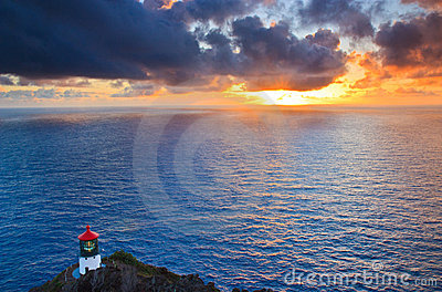 Sunrise at Makapuu Point, Oahu Hawaii
