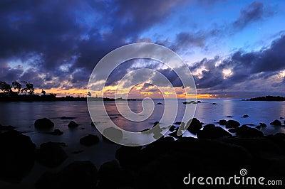Sunrise at Mauritius