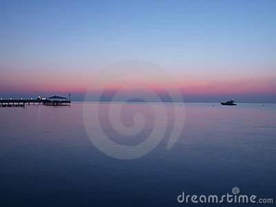 Sunrise by the Mediterranean sea.