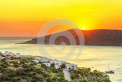 Sunrise at Mirabello Bay on Crete