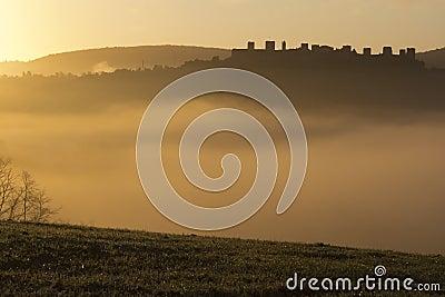 Sunrise in Monteriggioni