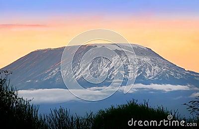 Sunrise on mount Kilimanjaro