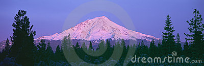 Sunrise at Mount Shasta,