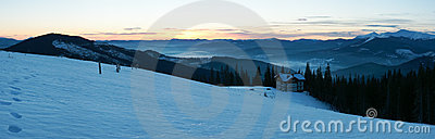 Sunrise mountain panorama