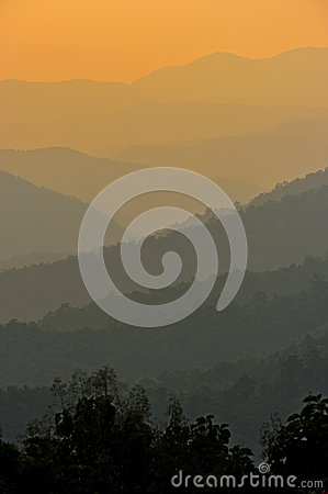 Sunrise at Nan province,North of thailand