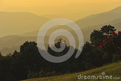 Sunrise at Nan province,North of thailand