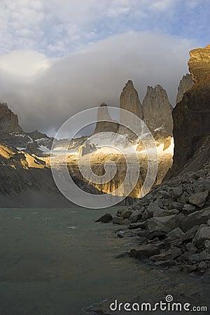 Sunrise near the Torres