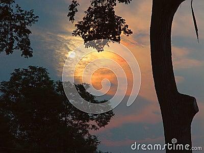 Sunrise in new england