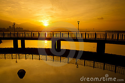 Sunrise with nice sky