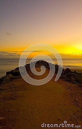 Sunrise at Noosa Breakwater