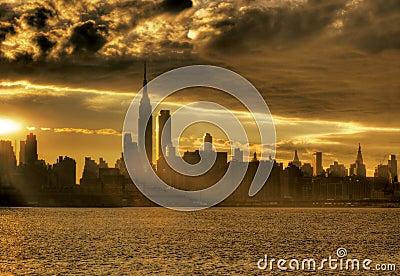 Sunrise in NY City