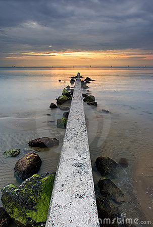 Sunrise on ocean