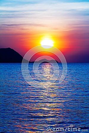 Sunrise on the ocean