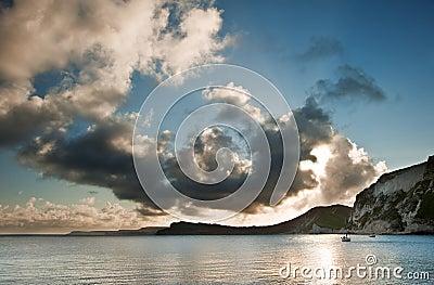 Sunrise ocean landscape Jurassic Coast