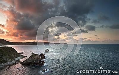 Sunrise ocean landscape Mupe Bay