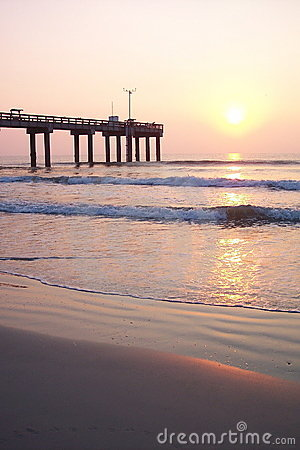 Sunrise At Ocean Pier Royalty Free Stock Image - Image: 16902216