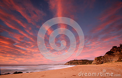 Sunrise ocean scene
