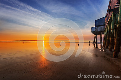 Sunrise by Old Orchard Beach pier