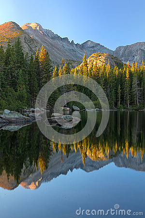 Free Sunrise On Bear Lake In Rocky Mountain National Park Stock Image - 50555421