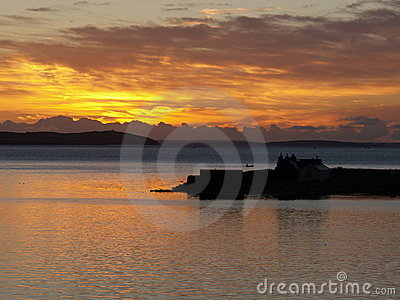 Sunrise on Orney, Scotland